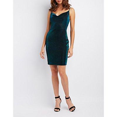 Cowl Neck Bodycon Dress