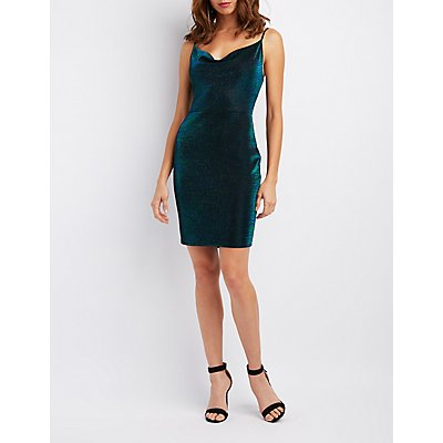 Cowl Neck Bodycon Dress