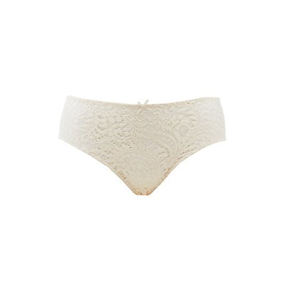 Plus Size Caged-Back Lace Hipster Panties