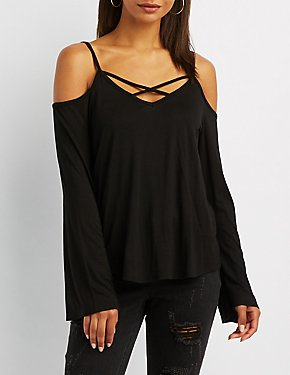 Cold Shoulder Caged Top