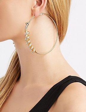 Crystal Snake Hoop Earrings