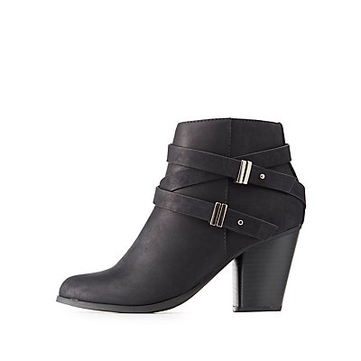 Wrapped Buckle Ankle Booties