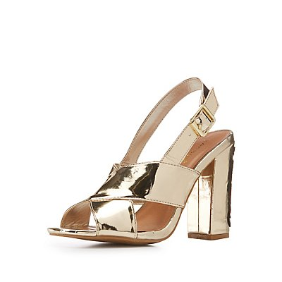 Bamboo Metallic Snake Patch Sandals