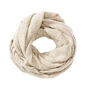 Fluffy Knit Infinity Scarf