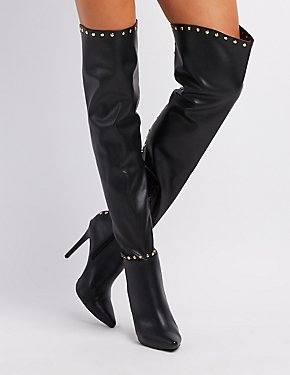 Studded Over-The-Knee Boots