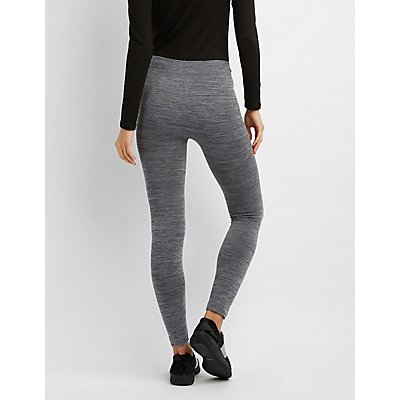 Marled Fleece Lined Leggings