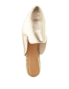 Bamboo Metallic Loafer Mules