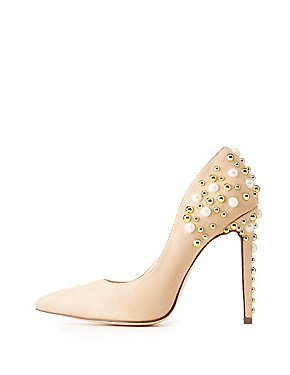 Embellished Pointed Toe Pumps