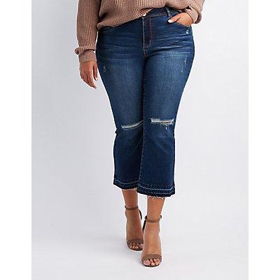 Plus Size Refuge Destroyed Flare Jeans