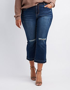 Plus Size Refuge Destroyed Flare Jeans
