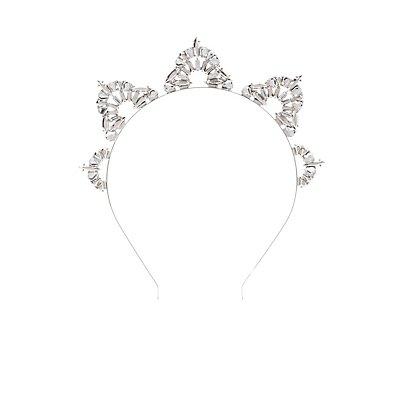 Faceted Stone Tiara Headband