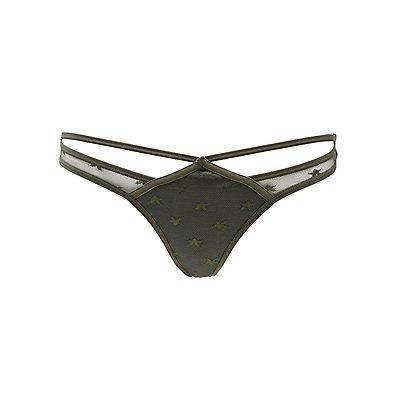 Strappy Mesh Thong Panties