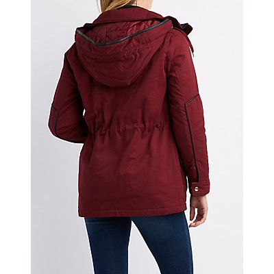 Anorak Hooded Sherpa Jacket