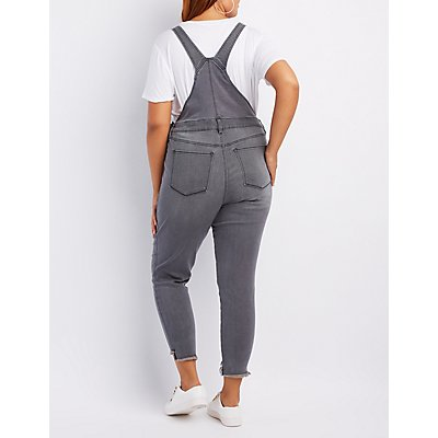 Plus Size Refuge Step Hem Overalls