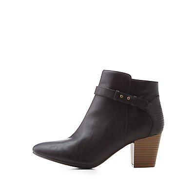 Qupid Harness Ankle Booties