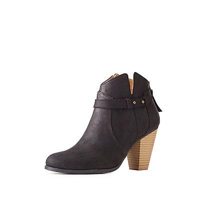 Qupid Western Ankle Booties