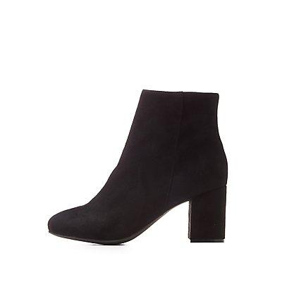 Wide Width Block Heel Booties