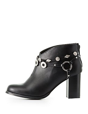 Charm & Harness Ankle Booties
