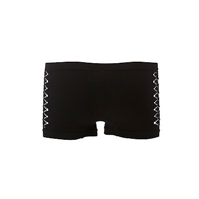 Cut-Out Seamless Boyshort Panties