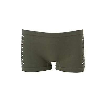 Cut-Out Seamless Boyshort Panties