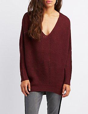 Shaker Stitch Pullover Sweater