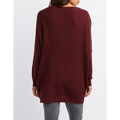 Shaker Stitch Pullover Sweater