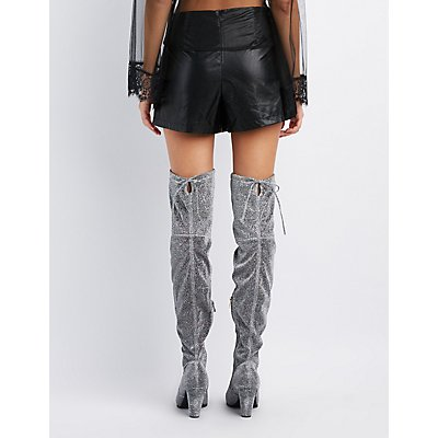 Tie-Back Over-The-Knee Boots