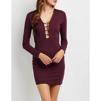 Caged Front Bodycon Dress