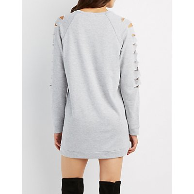 Destroyed Sweatshirt Dress