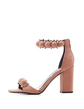 Qupid Bauble Two-Piece Sandals