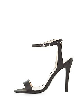 Qupid Satin Two-Piece Sandals