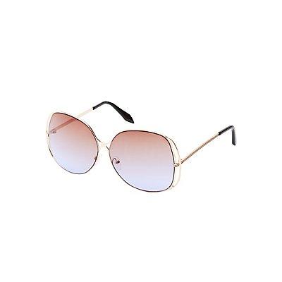Oversize Ombre Sunglasses