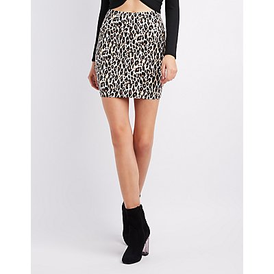 Leopard Bodycon Mini Skirt