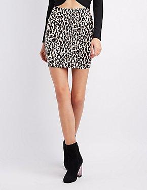 Leopard Bodycon Mini Skirt