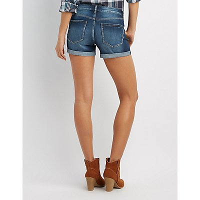 Refuge Mid-Rise Girlfriend Denim Shorts