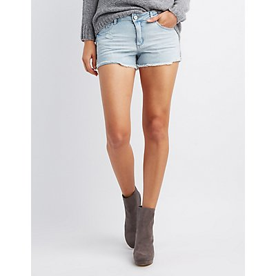 Refuge Mid-Rise Cut-Off Denim Shorts