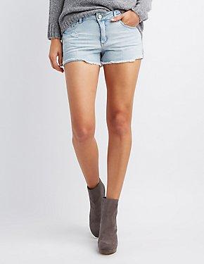 Refuge Mid-Rise Cut-Off Denim Shorts