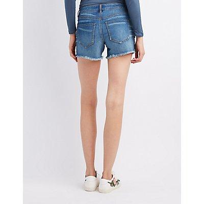 Refuge Destroyed Girlfriend Destroyed Denim Shorts