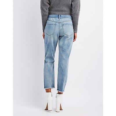 Refuge Destroyed Pearl Applique Jeans