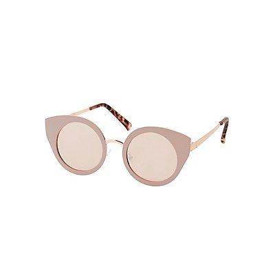 Matte Metal Cat Eye Sunglasses
