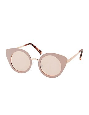 Matte Metal Cat Eye Sunglasses