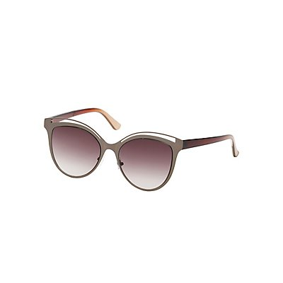 Cut-Out Metal Frame Sunglasses