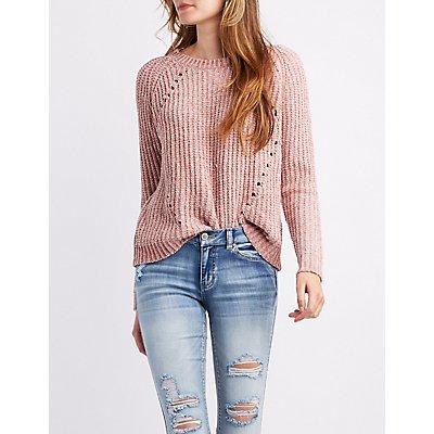 Chenille Pullover Sweater