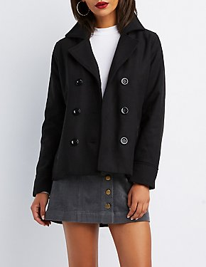 Military Peacoat Jacket