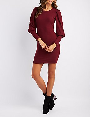 Bishop Sleeve Sweater Dress