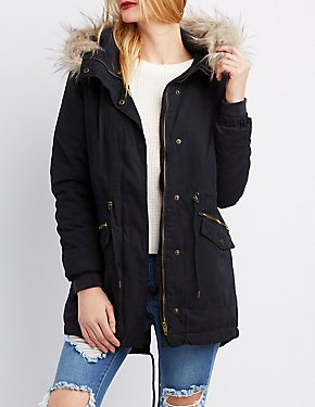 Fur-Trim Anorak Jacket