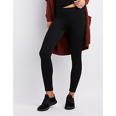 Fleece Lined Cable Knit Leggings