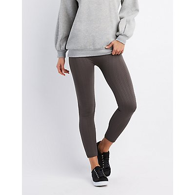 Ribbed Fleece Lined Leggings
