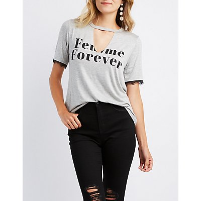 Femme Forever Cut-Out Tee