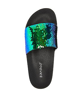 Bamboo Sequins Slide Sandals